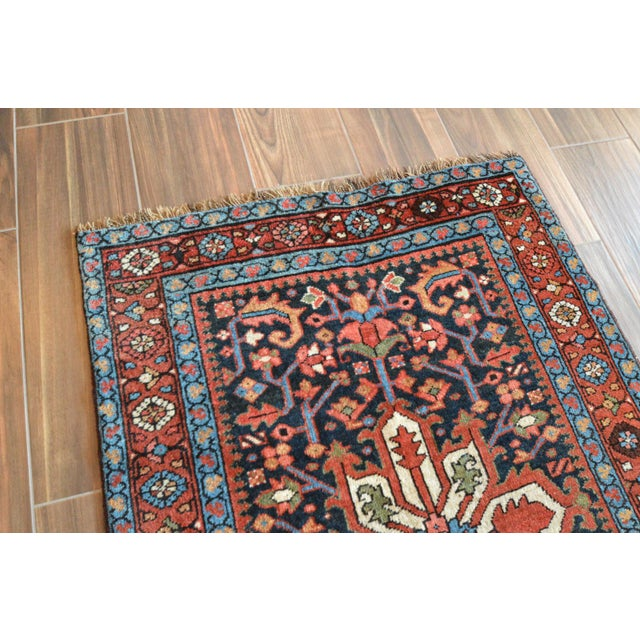 Antique Persian Heriz Karajeh Runner- 3′6″ × 8′10″ - Image 5 of 11