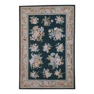Pasargad French Aubusson Hand-Woven Wool Rug- 4' X 6'