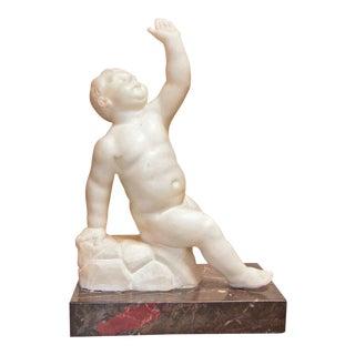 Italian Marble Sculpture of Bambino