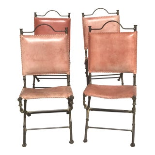 Iron & Leather Ilana Goor Dining Chairs - Set of 4