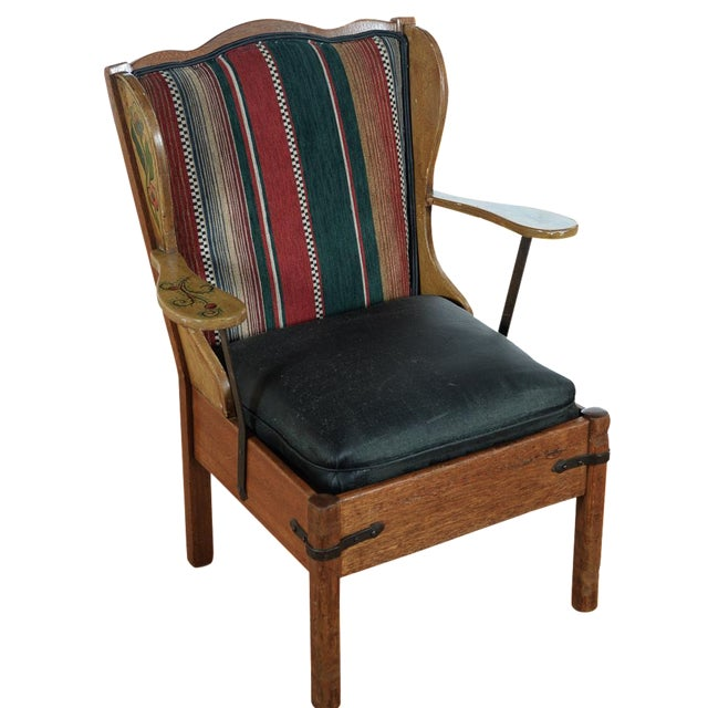 Monterey Style Early California Painted Arm Chair Chairish