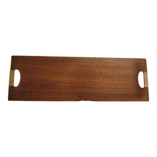 Vintage Japanese Teak Tea Tray