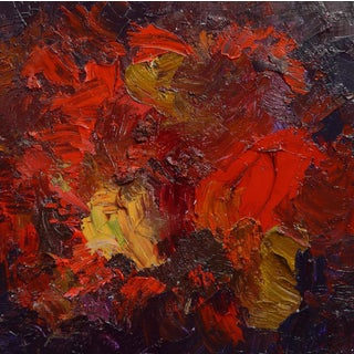 """Fred Visalia """"Royal Reds"""" Abstract Painting"""