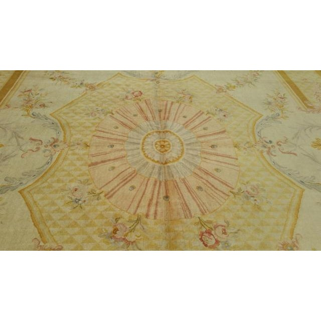 14'x19' Aubusson Design Hand Made Knotted Rug - Size Cat. 12x18 13x20 - Image 4 of 6