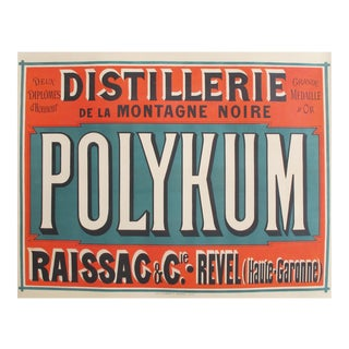 1910s French Vintage Alcohol Ad, Distillery Polykum