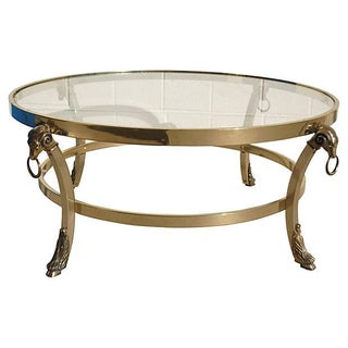Brass Ram Head Coffee Table