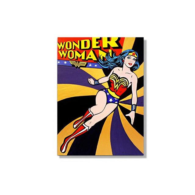 """Wonder Woman"" Original Acrylic Painting by Hatti Hoodsveld - Image 8 of 8"