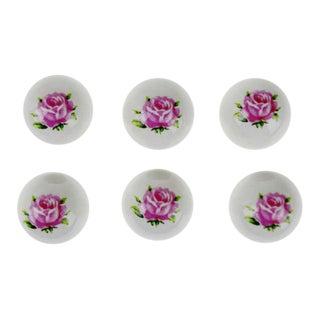 110 Vintage Porcelain Ceramic Floral Drawer Pull Knobs - NOS