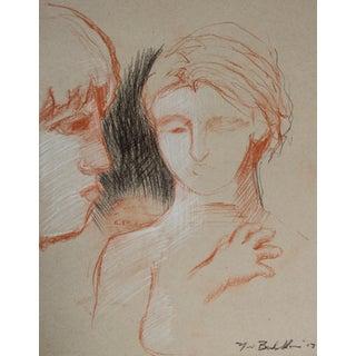 Sketch of Elizabeth & Griffin in Profile