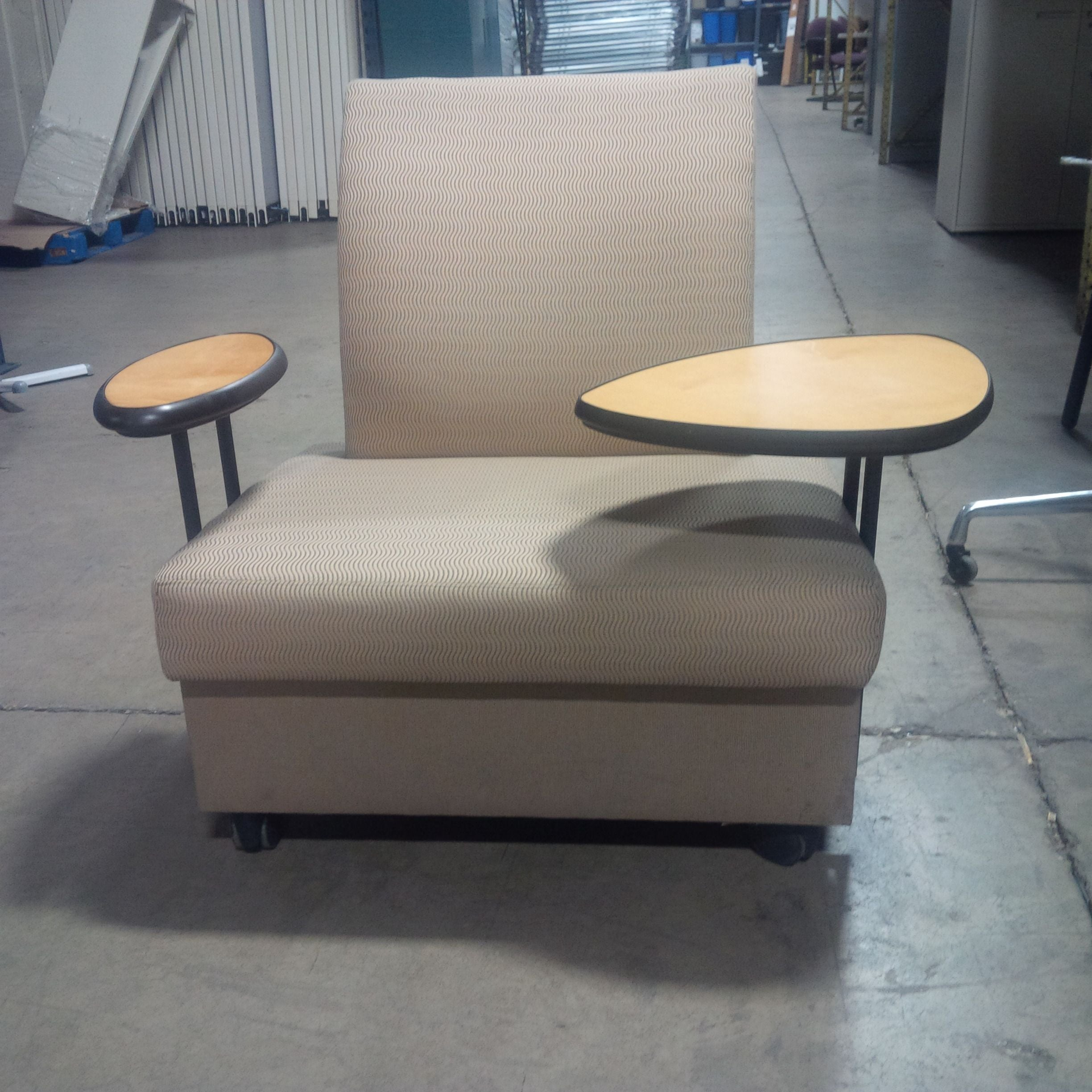 Metro Tablet Arm Lounge Chair A Pair