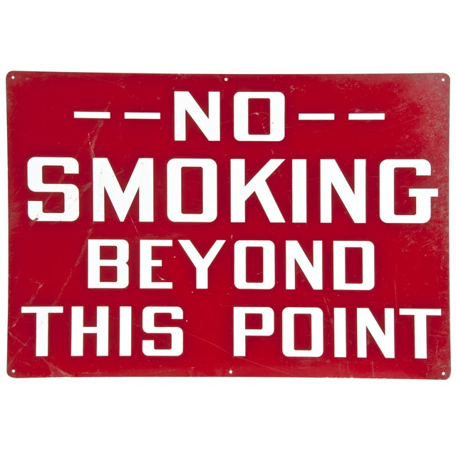Image of Vintage Industrial 'No Smoking' Sign