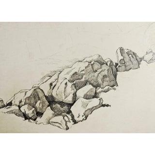 Rocky Landscape Pencil Study by George Baer