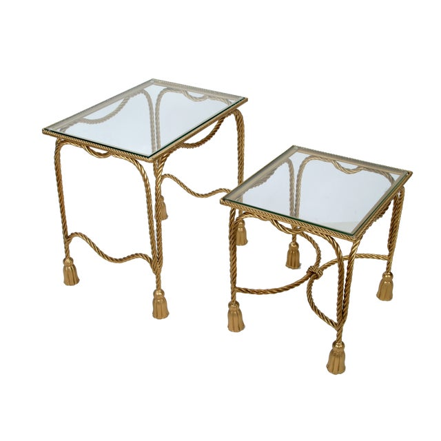 Decorative Gilt Metal Nesting Tables - a Pair - Image 3 of 9