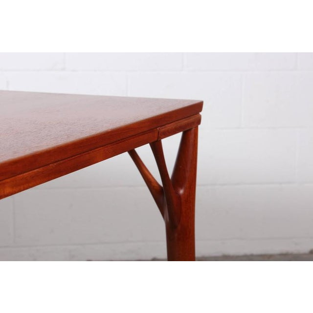 Sculptural Teak Dining Table - Image 8 of 10