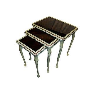 Painted Nesting Tables - Set of 3