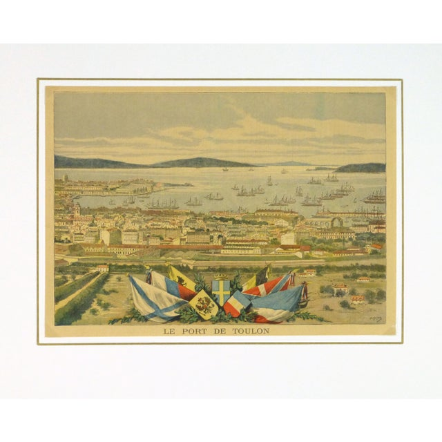 Image of Antique Toulon, France Engraving French, 1890