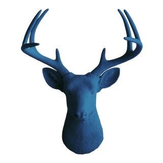 Wall Charmers Navy Blue Head Mount Bust