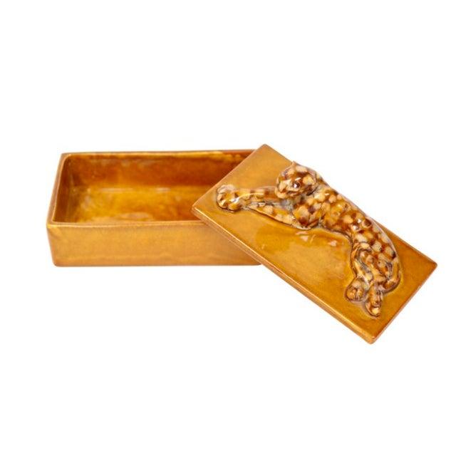 Mid-Century Leopard Lidded Box - Image 2 of 3