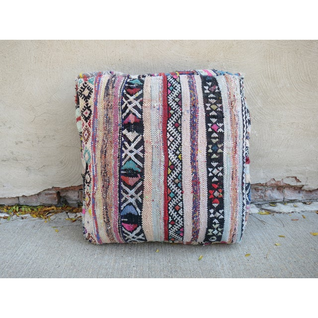 Image of Striped Moroccan Floor Pillow
