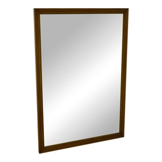 Henredon Vintage Walnut Frame Rectangular Wall Mirror