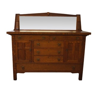Period Arts & Crafts Mission Oak Sideboard