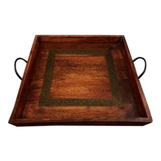 Boho Wooden Square Tray