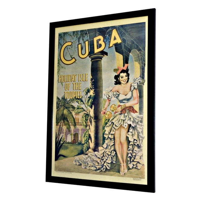 Image of Holiday Isle of the Tropics Vintage Cuba Poster