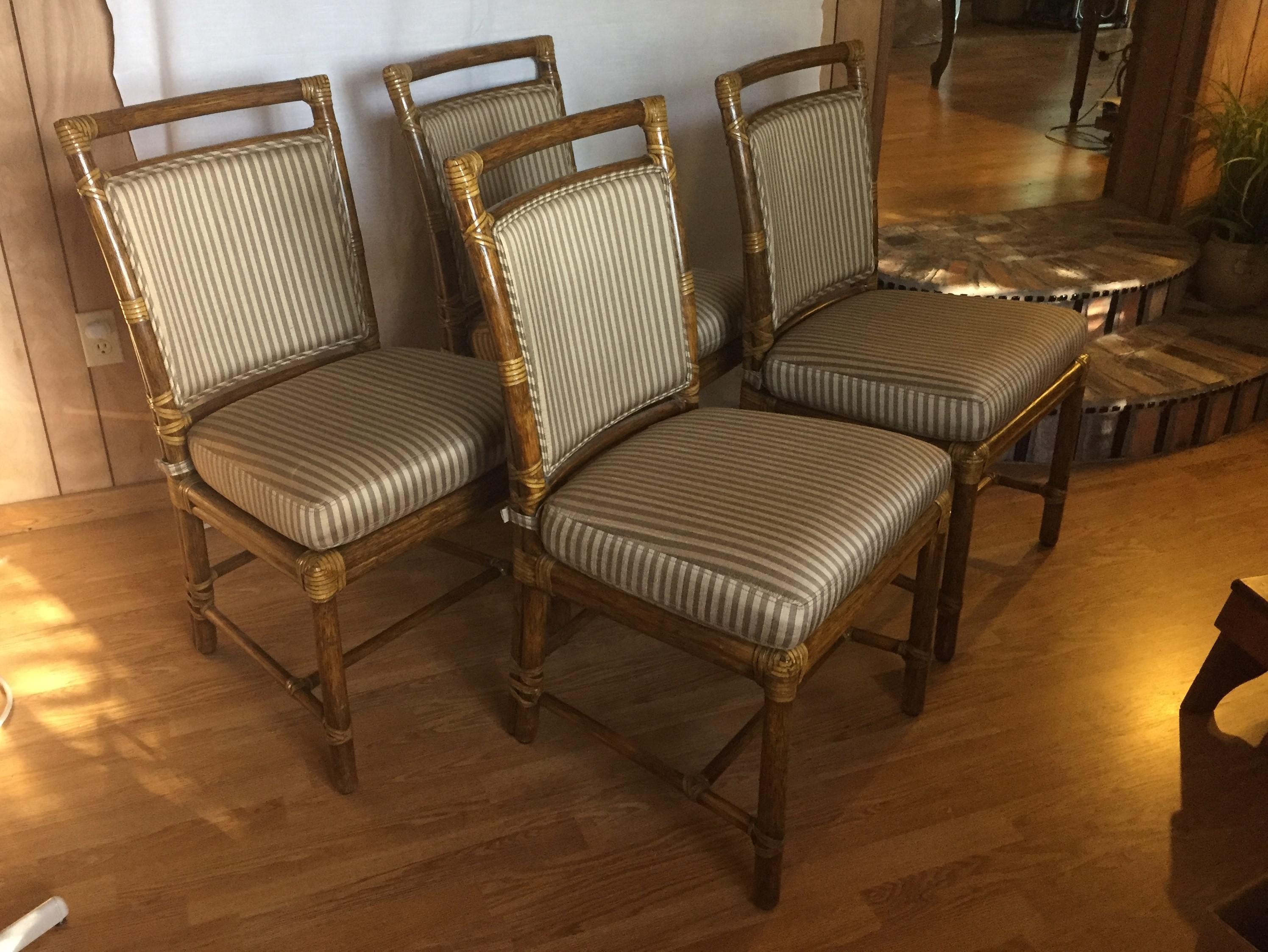McGuire Rattan Chairs   Set Of 6   Image 9 Of 9