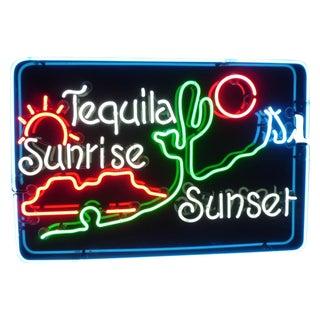 Tequila Sunrise / Sunset Neon Sign