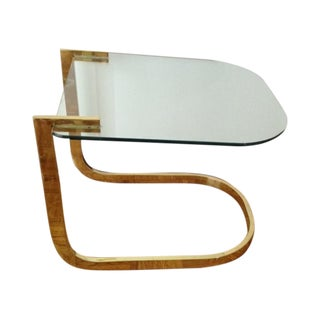 Baughman for DIA Flat Bar Brass Cantilever Table