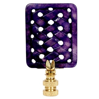 'Pizzazz' Carved Violet Jade Lamp Finial