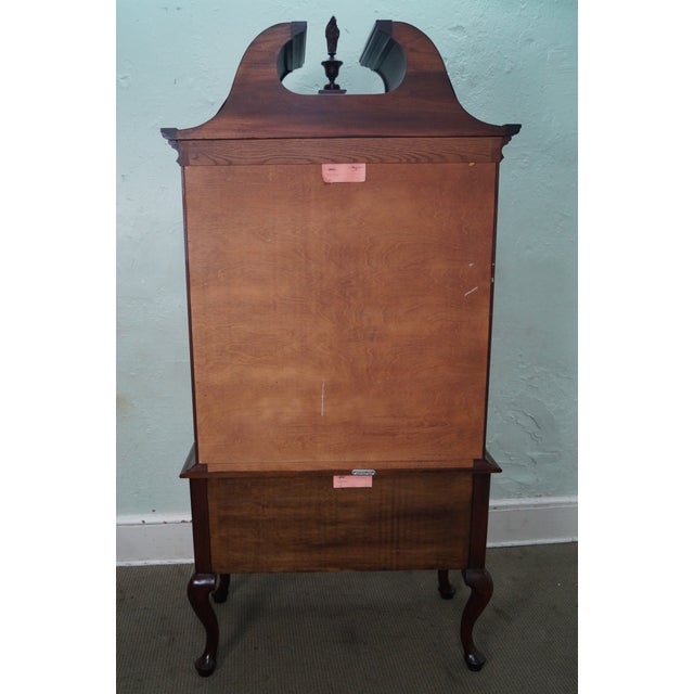 Image of Henkel Harris Solid Mahogany Queen Anne Highboy Chest