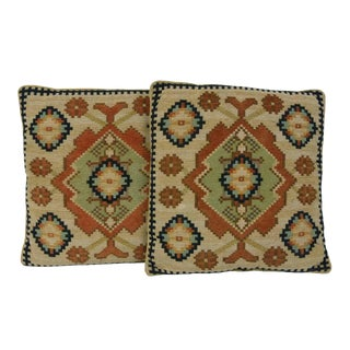 Kilim-Style Hand Woven Pillows - A Pair