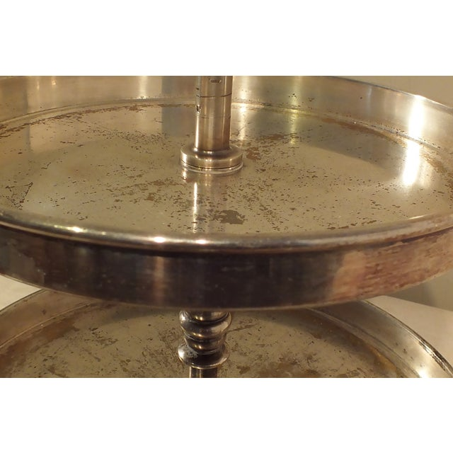 Image of Antique French Two-Tier Dessert Pastry Tray Stand