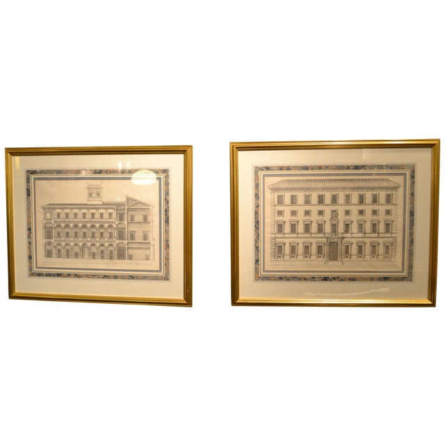17th Century Engravings - Palazzi Di Roma - A Pair - Image 1 of 8