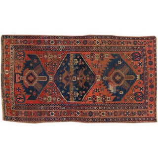 """Vintage Hand-Knotted Persian Rug - 4' X 7'3"""""""