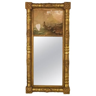 19th-20th Century Federal Style Crest Mirror