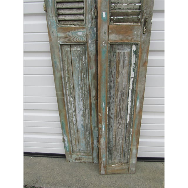 Rustic French Shutters- A Pair - Image 3 of 8