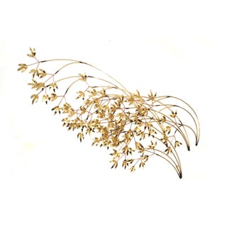 Vintage Curtis Jere Bamboo Leaves Wall Sculpture