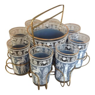 Jaspar Greek Revival Barware Set - Set of 9