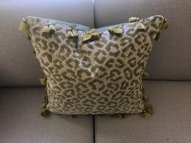Tassel Trim Decorative Pillow Chairish
