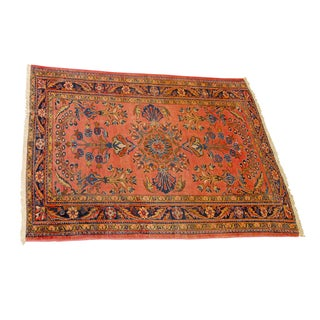 Antique Pink Persian Lilihan Rug - 4′10″ × 6′