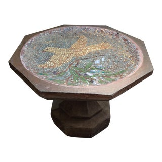 Dove With Olive Branch Mosaic Birdbath