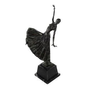 "Maitland Smith Chiparus ""Dancing Girl"" Art Deco Bronze Sculpture"