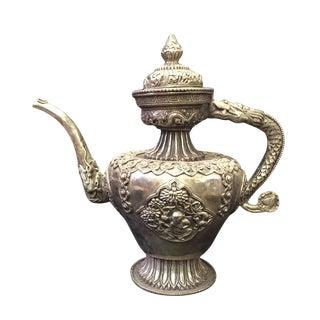 Vintage Handwork Silver & Copper Tea Pot