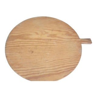 1900's Huge Round French Bread Board