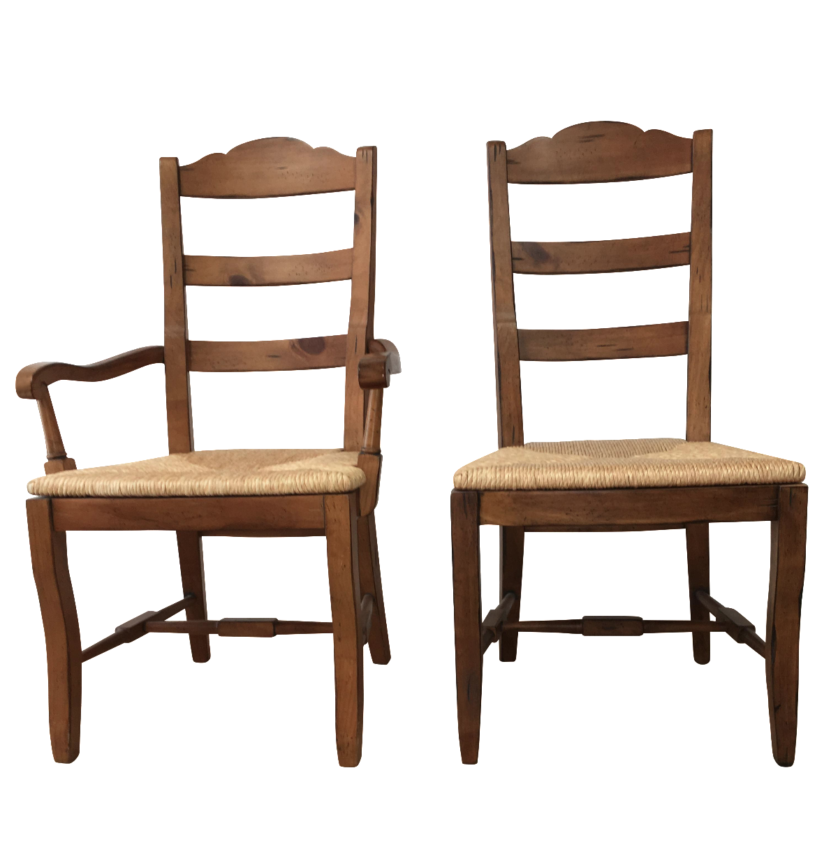 Ladder Back Ethan Allen Dining Chairs Set of 8