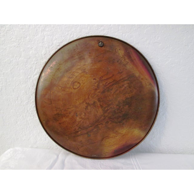 Image of Vintage Moroccan Large Etched Copper Tray