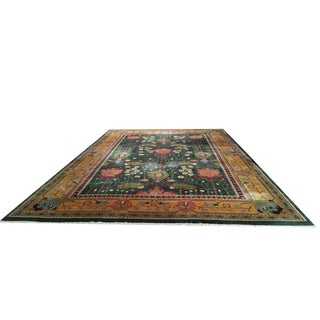 Art Deco Handmade Knotted Rug - 11′10″ × 17′10″