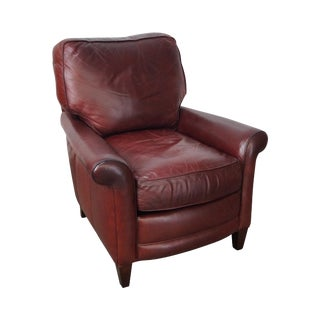 Hancock & Moore Red Leather Lounge Chair